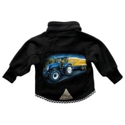 Fleecejacka Blå Traktor 140