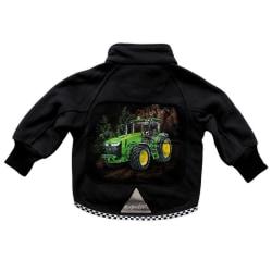 Fleecejacka Grön Traktor 130
