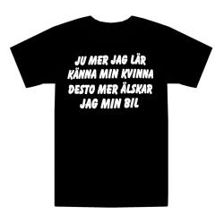 T-shirt Älskar Min Bil L