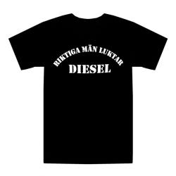 T-shirt Riktiga män luktar diesel XL
