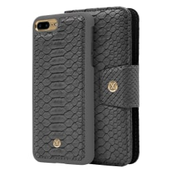 iPhone 7/8 Plus Marvêlle Magnetiskt Skal & Plånbok Askgrå