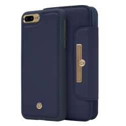 iPhone 7/8 Plus Marvêlle Magnetiskt Skal & Plånbok Blå Marinblå