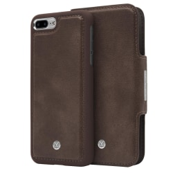 iPhone 7/8 Plus Marvêlle Magnetiskt Skal & Plånbok Mörkbrun