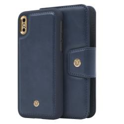 iPhone X/Xs Marvêlle Magnetiskt Skal & Plånbok Blå Marinblå