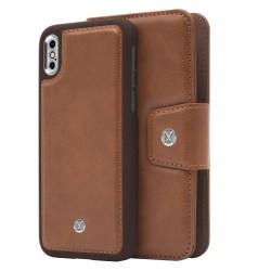 iPhone X/Xs Marvêlle Magnetiskt Skal & Plånbok Ljusbrun Ljusbrun