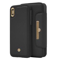 iPhone X/Xs Marvêlle Magnetiskt Skal & Plånbok Svart Svart