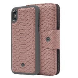 iPhone Xs Max Marvêlle Magnetiskt Skal & Plånbok Askrosa Mörkrosa
