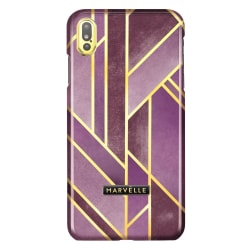 iPhone Xs Max Marvêlle Magnetiskt Skal Velvet Pink Mörklila