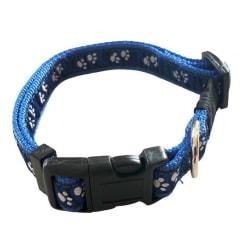 Hundhalsband 20mm x 35-55cm Blå M