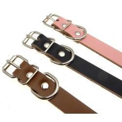 Hundkoppel Läder 38-48cm Black L