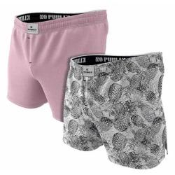 Kalsonger boxershorts 2-pack 100% Kammad Bomull Medium MultiColor M