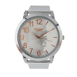 Klocka Vit Silver 40mm Silicon