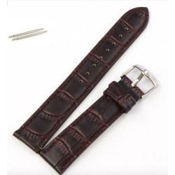 Klockarmband Brunt Läder 18mm Brown 18mm