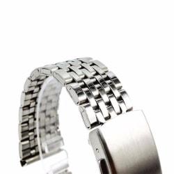 Klockarmband polerat rostfritt stål 7radigt | 22mm Silver 22mm