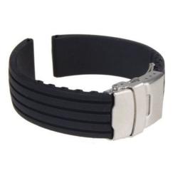 Klockarmband Silicon 20mm Black 20mm