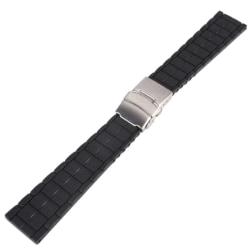 Klockarmband Silicon 20 mm Black 20mm