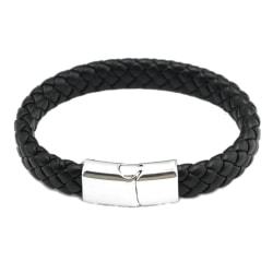 Läder armband 20cm Magnet Unisex Svart - Brun Brun