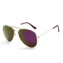 Solglasögon Barn Pilot | Guld Purple Spegel Lila