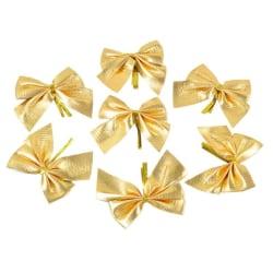 12 st Rosetter för Juldekoration - Guld Guld