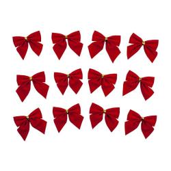 12x Rosetter till Jul - Röd Röd