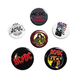 AC/DC, 6x Pins multifärg