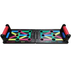 Armhävningsbräda, 12 Positioner - Vikbar multifärg