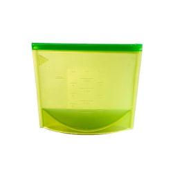 Återanvändbar Ziplock-påse av silikon med mått - Grön Grön