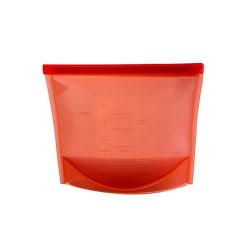Återanvändbar Ziplock-påse av silikon med mått - Röd Röd