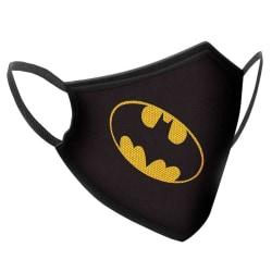 Batman, Återanvändbar Andningsmask - 10-12 År Svart one size