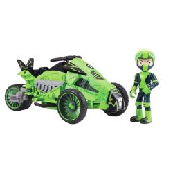 Ben 10, Actionfigur - Rustbuggy Ben med Omni-Cycle Grön