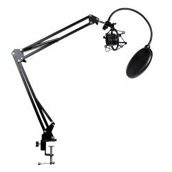Bordstativ till Mikrofon med Svängarm Svart