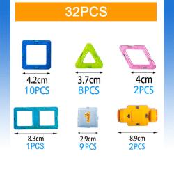 Byggdelar för barnlek - En perfekt present för barn (32 st) multifärg
