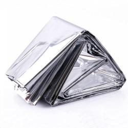 Camping / Nödfilt / Överlevnadsfilt (Thermal Mylar) Silver