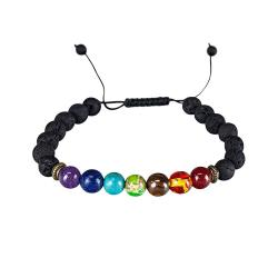 Chakraarmband med makramédetalj multifärg