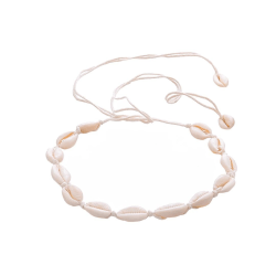 Choker Halsband med vita Snäckor - Vit Vit