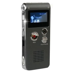Diktafon med MP3-funktion Svart