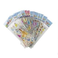 Disney Prinsessor Klistermärken i 3D - 6 st Ark (ca 72 st) multifärg
