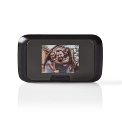 Dörrkamera med 2.8 tums Färg-LCD för Foto / Videoinspelning Svart