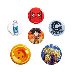 Dragon Ball Z, 6x Pins multifärg