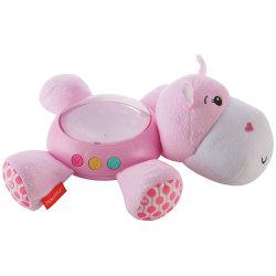 Fisher-Price, Nattlampa med Musik - Rosa Flodhäst Rosa