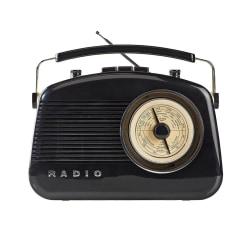 FM / AM Radio med Bluetooth Svart