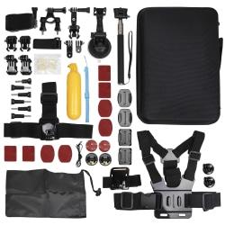 GoPro Set med tillbehör och väska multifärg