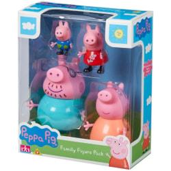 Greta Gris / Peppa Pig, Familj Figurpaket multifärg
