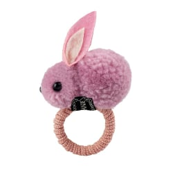 Hårsnodd med kanin - Rosa Rosa