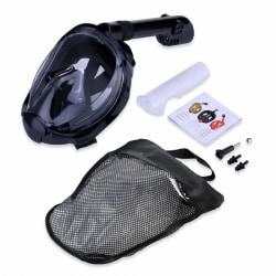 Helmask cyklop och snorkel med GoPro fäste - L/XL Black L
