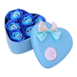 Hjärtformad ask med rosor Turkos