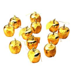Julgranspynt, Äpplen - 12-pack (Guld) Guld
