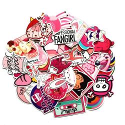 Klistermärken, 50 pack - Cute multifärg
