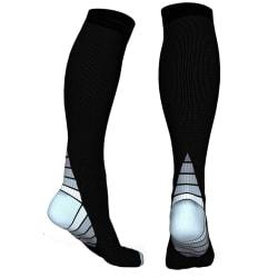 Knähöga Kompressionsstrumpor för Löpning & Sport - Grå L/XL Grey L