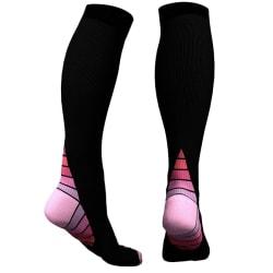 Knähöga Kompressionsstrumpor för Löpning & Sport - Rosa Pink S